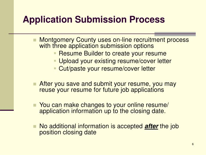 Application Submission Process