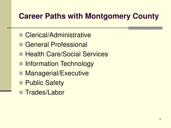 Career Paths with Montgomery County