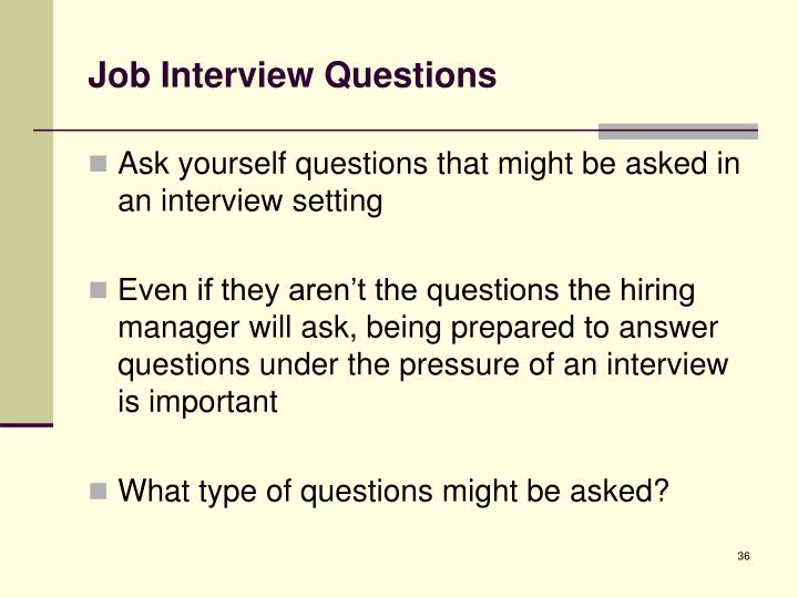 Job Interview Questions