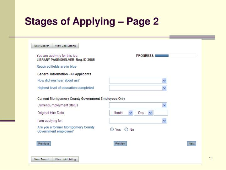 Stages of Applying – Page 2