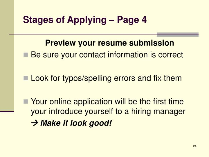 Stages of Applying – Page 4