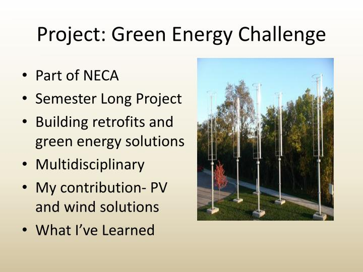 Project: Green Energy Challenge