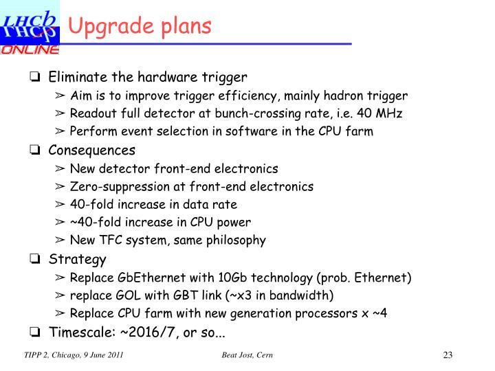 Upgrade plans