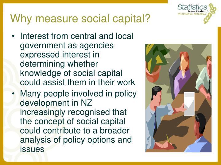 Why measure social capital?