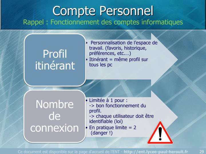 Compte Personnel