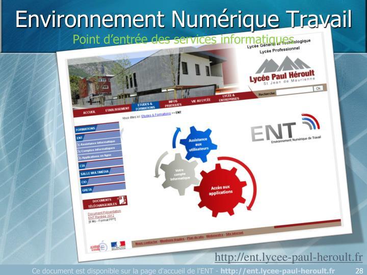 Environnement Numérique Travail