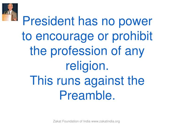 President has no power