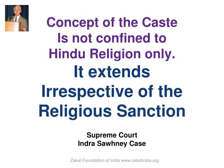 Concept of the Caste