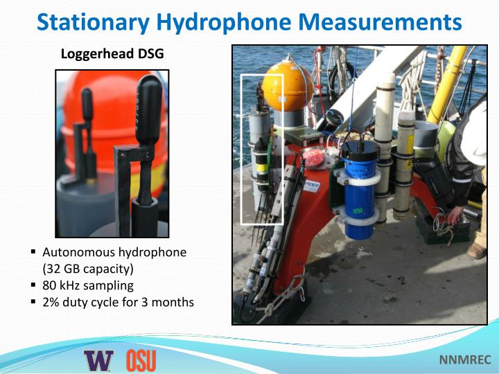 Stationary Hydrophone Measurements