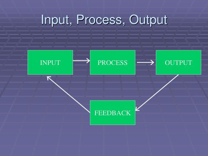 Input, Process, Output