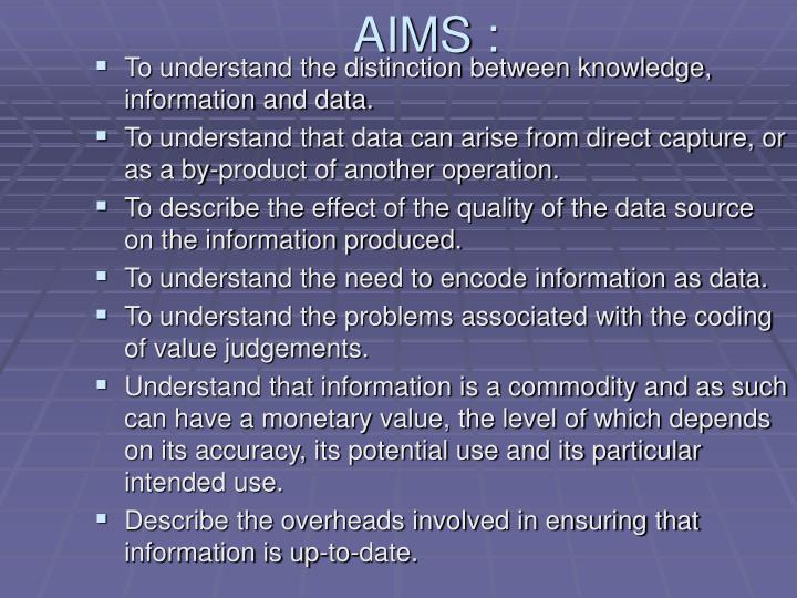 AIMS :