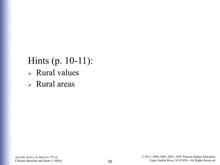 Hints (p. 10-11):
