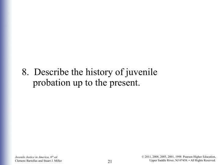 8.  Describe the history of juvenile probation up to the present.
