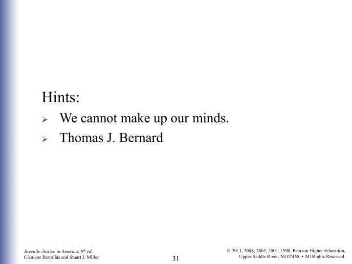 Hints: