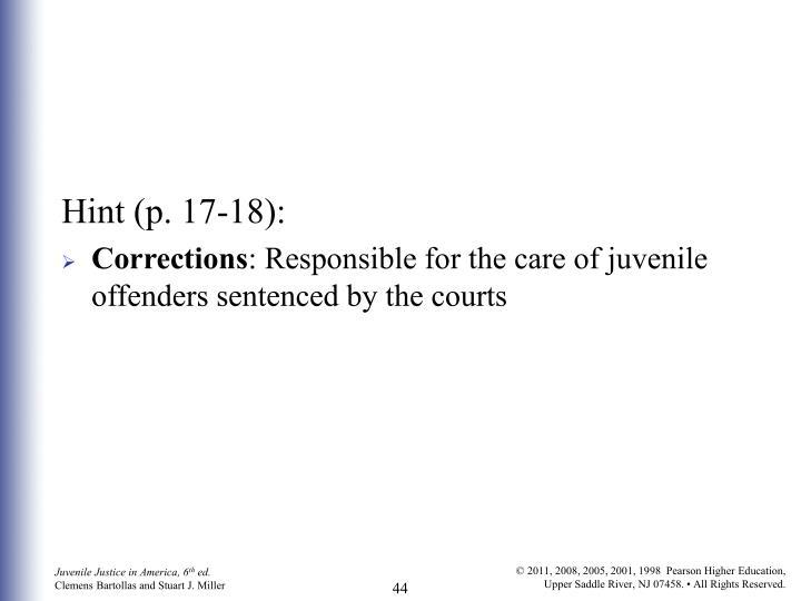 Hint (p. 17-18):