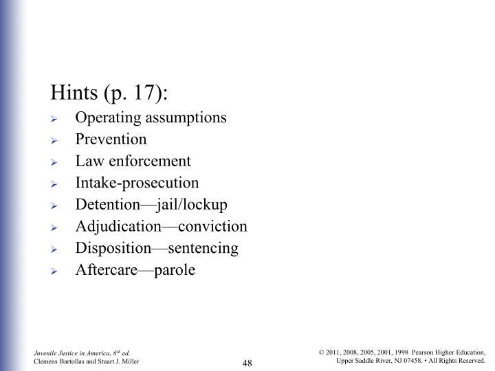 Hints (p. 17):