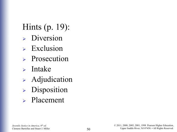 Hints (p. 19):