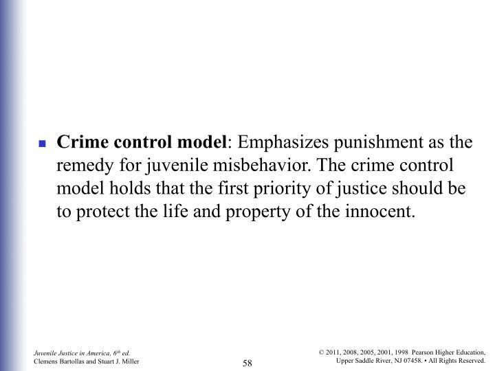 Crime control model