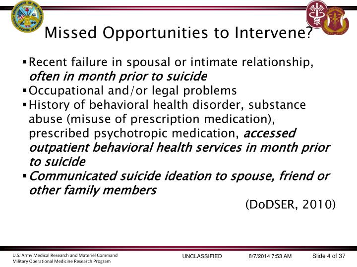 Missed Opportunities to Intervene?