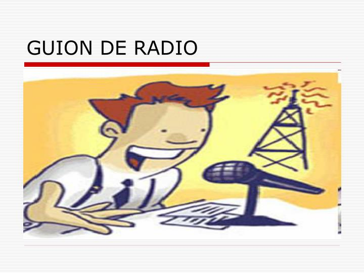 GUION DE RADIO
