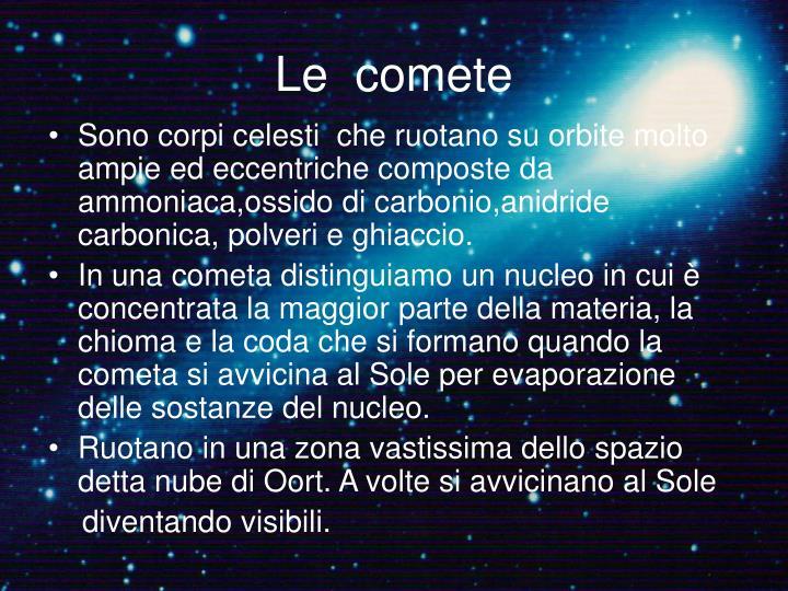 Le  comete