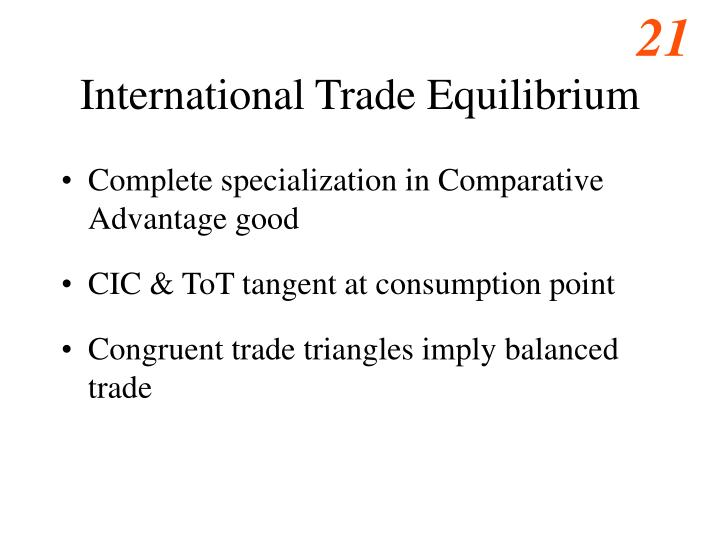 International Trade Equilibrium