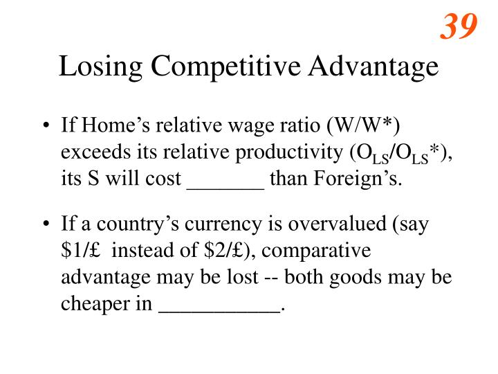 Losing Competitive Advantage