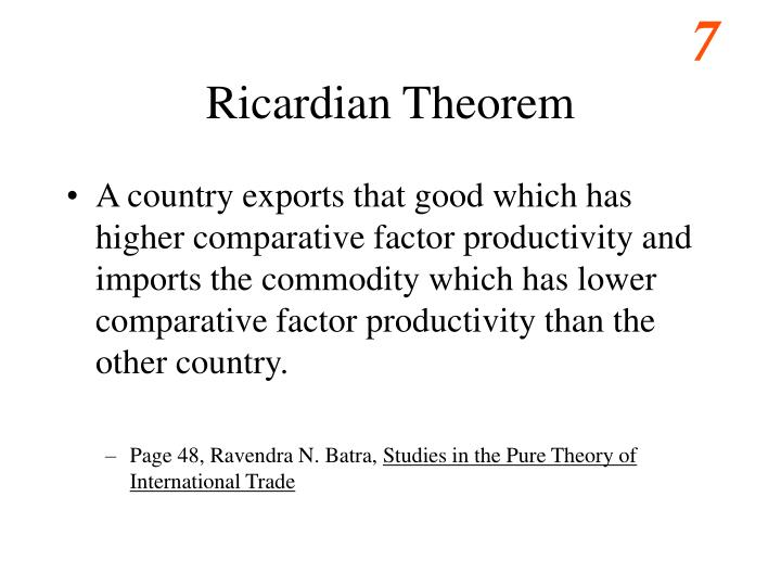 Ricardian Theorem
