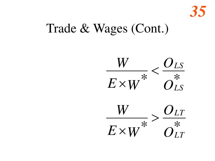 Trade & Wages (Cont.)