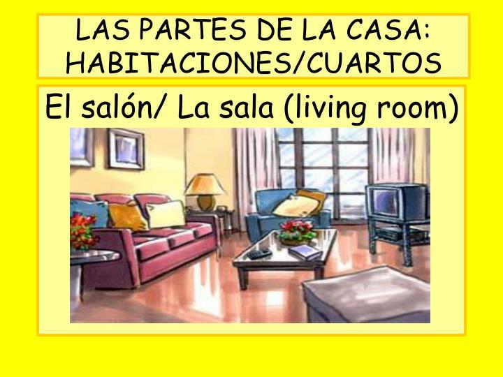 LAS PARTES DE LA CASA: HABITACIONES/CUARTOS