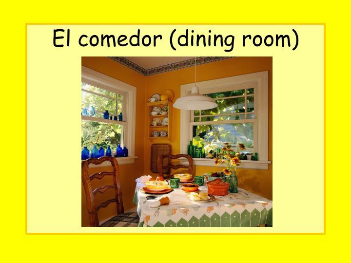 El comedor (dining room)