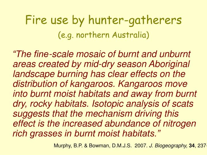 Fire use by hunter-gatherers