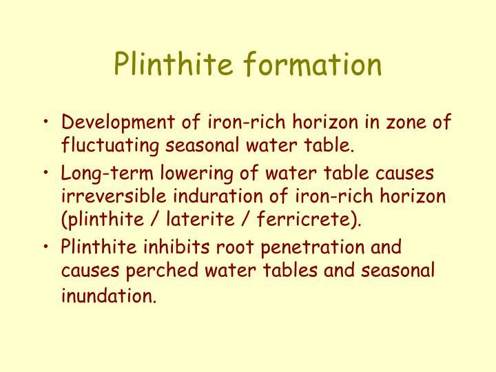Plinthite formation