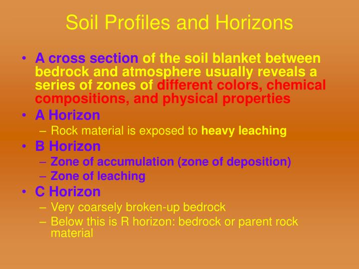 Soil Profiles and Horizons