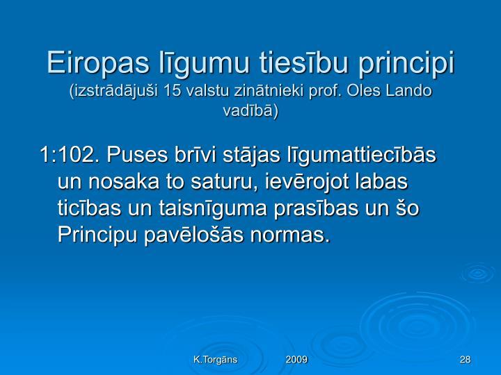 Eiropas līgumu tiesību principi
