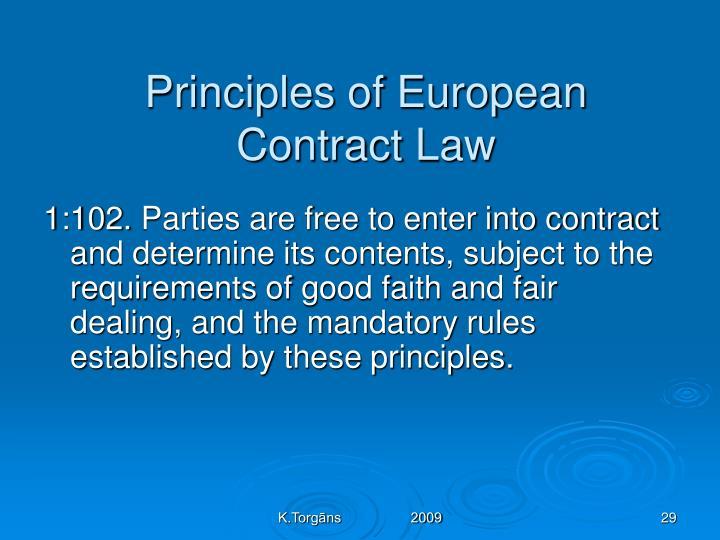 Principles of European