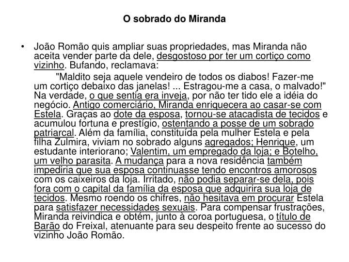 O sobrado do Miranda