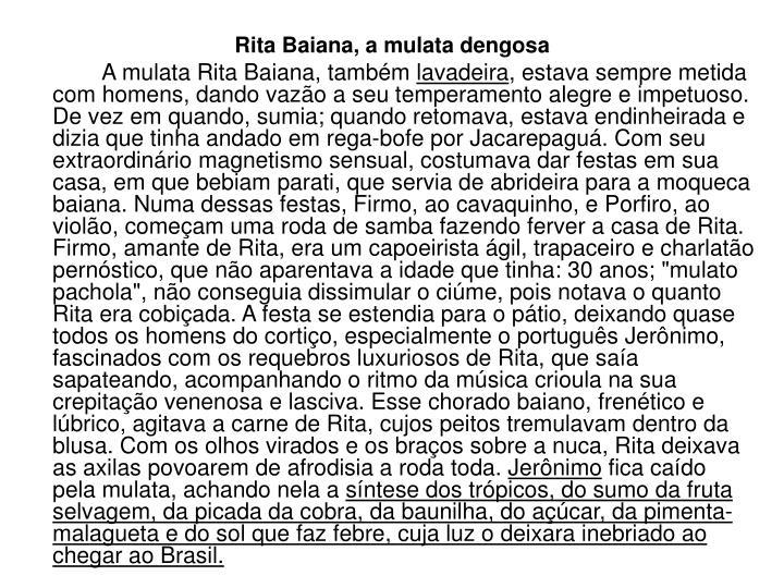 Rita Baiana, a mulata dengosa