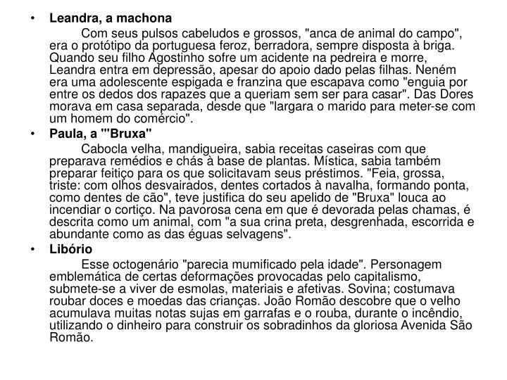 Leandra, a machona