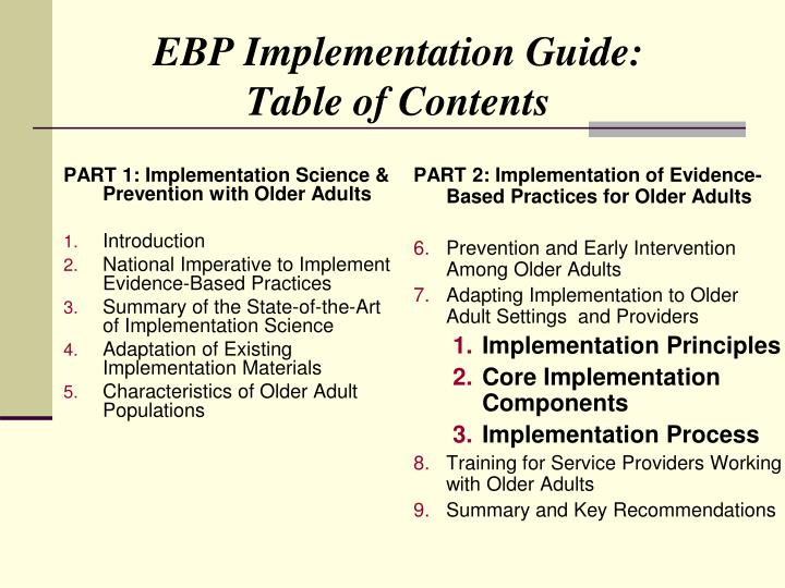 PART 1: Implementation Science & Prevention with Older Adults