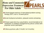 home and community depression treatment