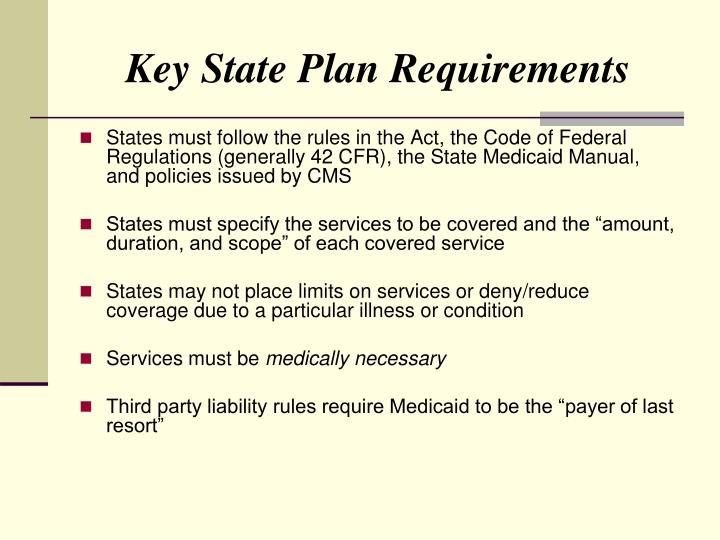 Key State Plan Requirements