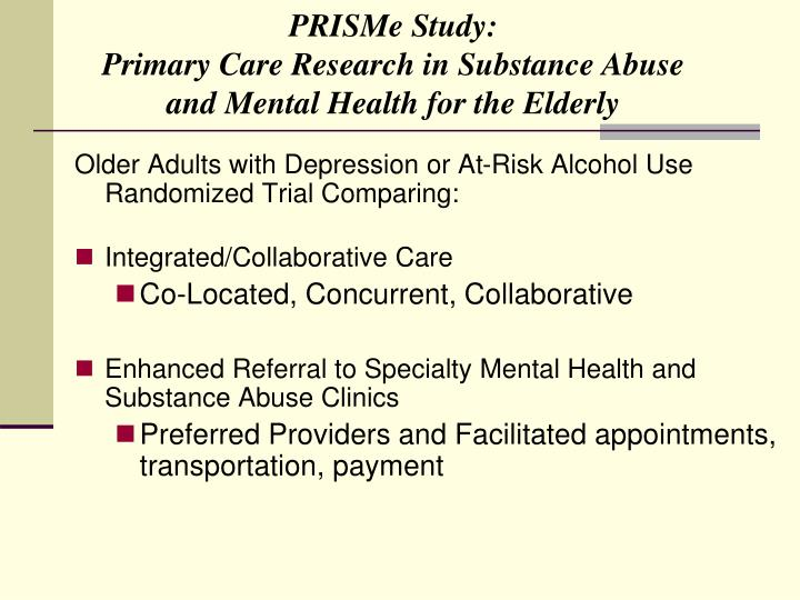PRISMe Study: