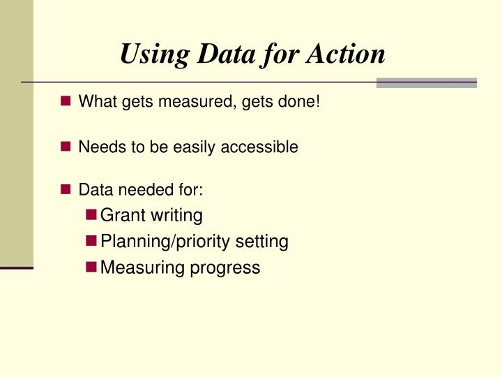 Using Data for Action