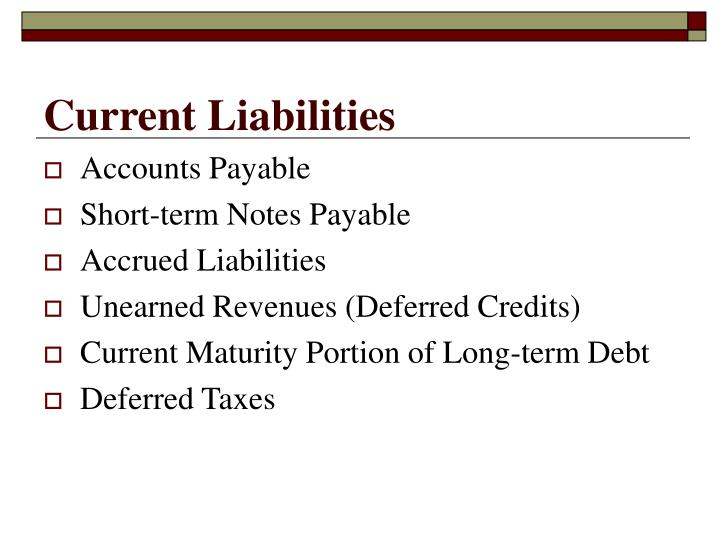 Current liabilities