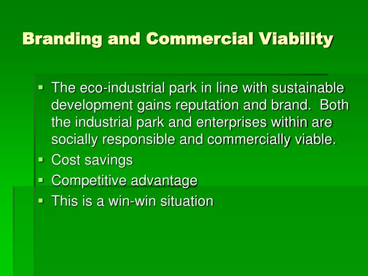 Branding and Commercial Viability