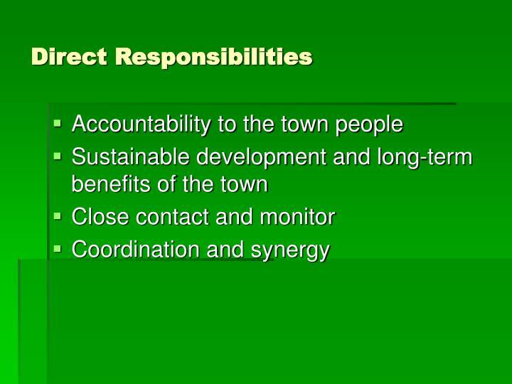 Direct Responsibilities