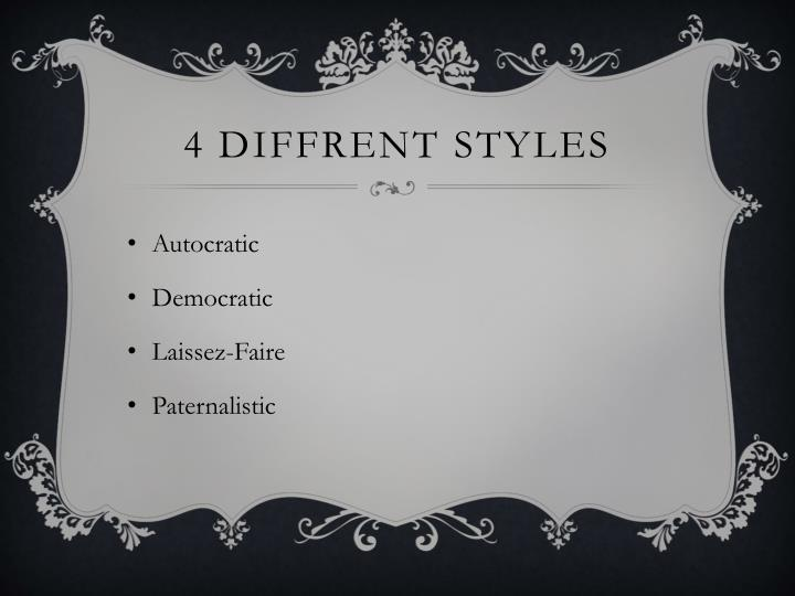 4 diffrent styles