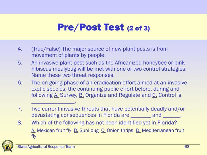 Pre/Post Test