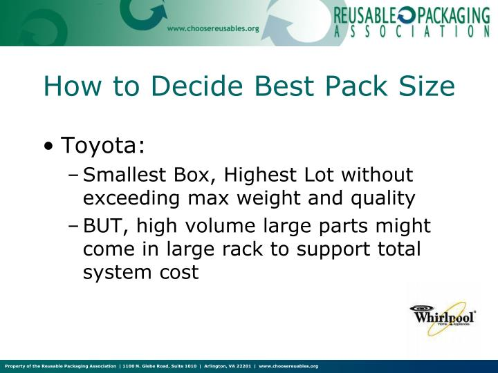 How to Decide Best Pack Size
